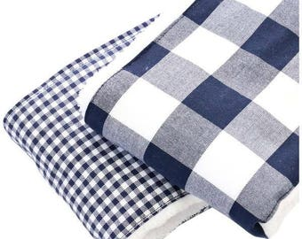 Brett's Gingham Baby Boy Burp Set | Navy, White, Gingham, Checker, Plaid, Preppy Baby Burp Set