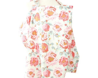 Felicity's Floral | Pink and Ivory Nursing Cover
