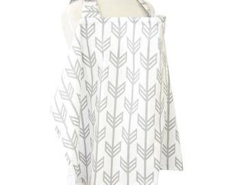 Gray Arrow | Gray and White Nursing Cover