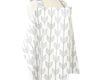 Gray Arrow | Gray and White Nursing Cover
