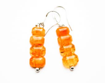 Natural baltic amber earrings 4,5g