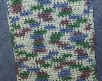 crocheted cotton dishcloth