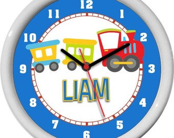 Toy Train Personalized Wall Clock