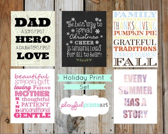 Holiday Print Set, 8x10, Instant Download