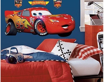 Pixar cars birthday/bedroom stick and peel wall decal decoration