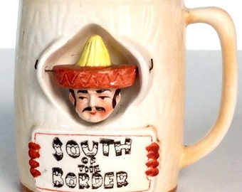Vintage South of the Border Coffee Cup