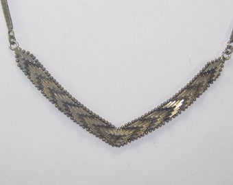 V-48  Vintage Necklace   925  silver choker