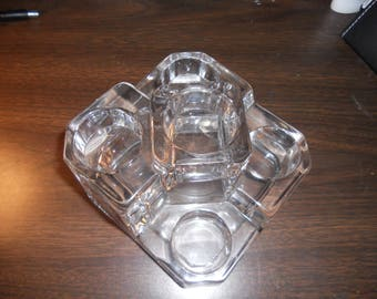 Partylite lead crystal Multi tealight holder
