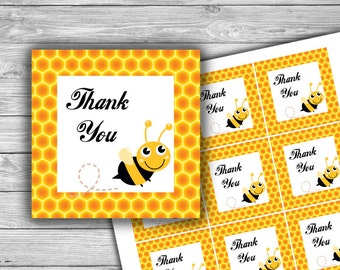 Bee Thank You Tag