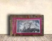 Photo Frame Sign - Nursery Sign - Picture Frame with Jute Rope Bow - Hand Painted - Nursery Decor - Gift Idea for Him or Her