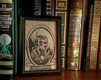 Unspeakable Hastur - Linocut Block Print