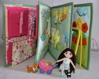 CUSTOM princess Quiet Book (3-6 age) Busy Book Eco friendly Soft Book Educational book with felt doll