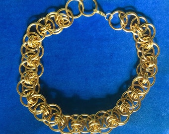 Golden chain necklace