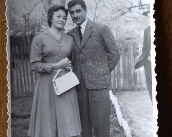 Vintage Photo of handsome couple