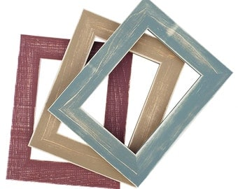 Rustic Picture Frame - Photo Frame -Hand Painted - 8x10-5x7- Farmhouse Decor