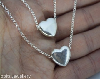 summer wedding jewellery, love heart necklace, bridesmaid jewellery, mother of bride gift, simple wedding jewellery, heart necklace,