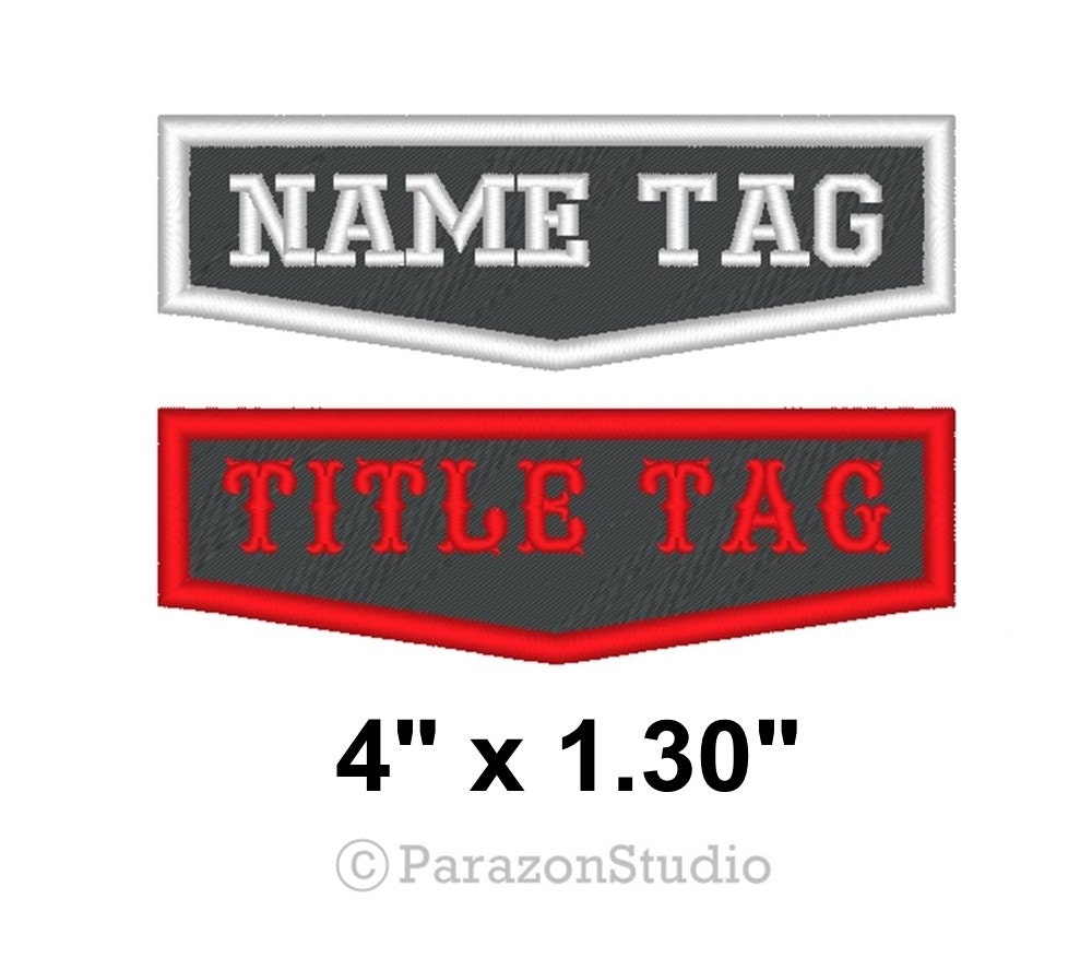 Custom Embroidered Biker Outlaw Patches MC Name Tag Sew on