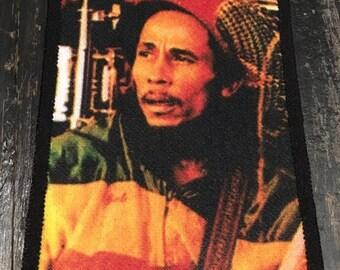 Vintage 80's Bob Marley Patch Rasta Jamaica The Wailers Reggae Music Deadstock