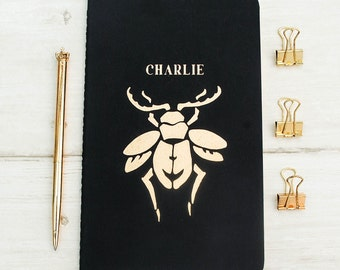 Luxury Beetle Personalised Notebook