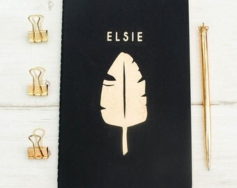 Luxury Tropical Personalised Notebook