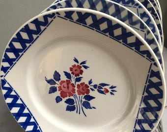 6 dinner plates Badonviller