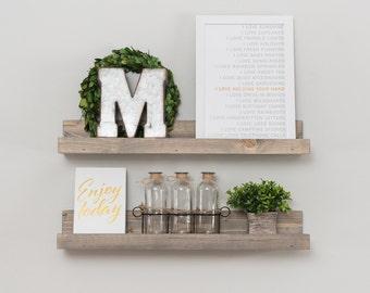 Picture Ledge Shelf, Grey Shelf, Rustic Picture Ledge, Shelf,  Picture Shelf, Ledge Shelf, Wall Shelf, Wall Decor, Rustic Home Decor