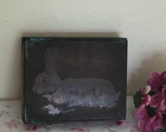 Vintage Copper Printing Block - Printer's Plate - Bunny