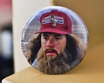 "Forrest Gump Tom Hanks 2.25"" Pinback Button or Magnet"