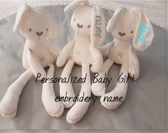 Bunny Rabbit Toy, Soft Toy, Rabbit, Baby Toy, Baby Gift, Personalised Gift, Baby Shower Gift, Cuddle Toy, Plush Toy, Bunny Rabbit, Bunny Toy
