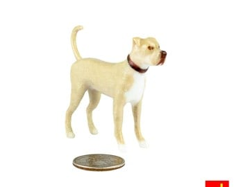 Miniature Dog Figurine - Pitbull Mix