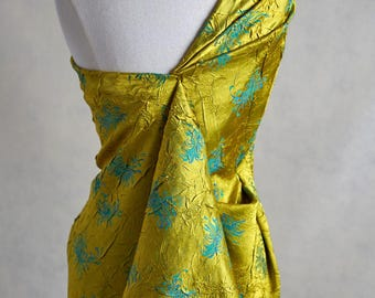 Henry Bertrand Jacquard Damask in Chartreuse