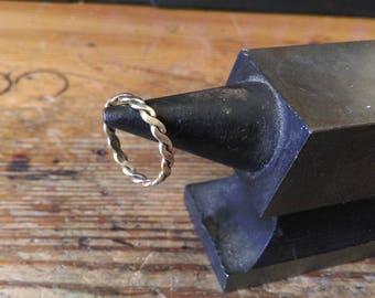 Fine brass ring braided Viking Celtic medieval