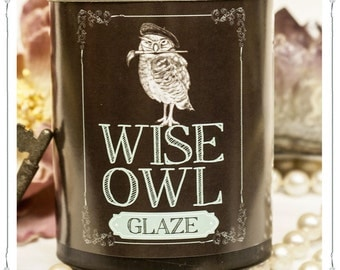 Wise Owl Glaze, pint, Chalk paint finish, 11 colors available!