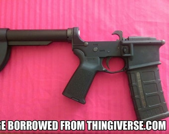 Mini AR15/M4 Stock [3D Printed]
