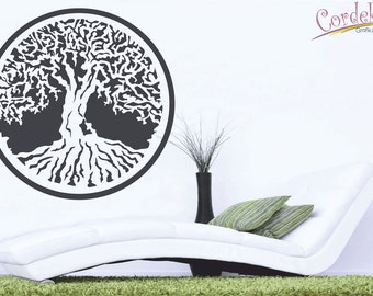 Tree of Life Wall Decal, Pagan Mythical Symbol, World Tree Sticker, Wall Sticker, Decoration, Vinyl