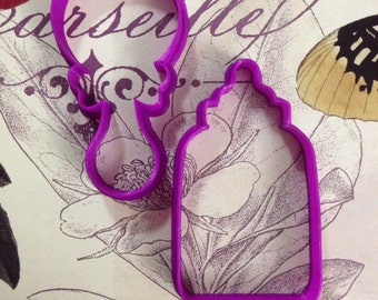 Baby Shower: Rattle / Baby Bottle Cookie Cutter