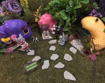 Miniature Garden Stepping Stones, Fairy Garden Stepping Stones, Fairy Garden Accessory, Garden Accessory, Stepping Stones