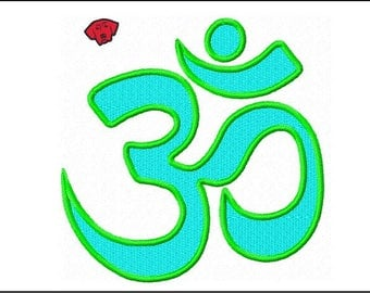 Om Symbol Embroidery  Designs in 5 sizes