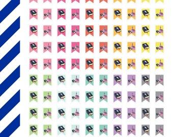 Pastel Church Flag Minis, Premium Matte Vinyl,Planner Stickers,Removable, Repositionable, Reusable, For ECLP & Other Planners, Vinyl Sticker