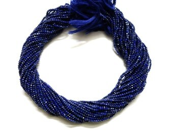 Bundle of 5 Strands of Lapis Micro Faceted Rondelles (AAA Grade)  Lapis Rondelle Beads