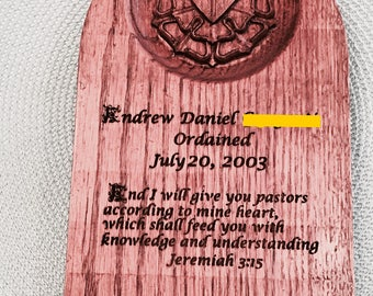 Ordination Plaque