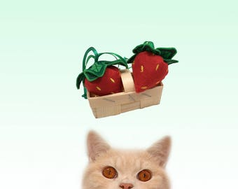 Freak Meowt, Handmade Unique  Canadian Catnip Scrumptious Strawberries cool cat toys gifts for cats