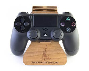 Dark Souls Bonfire inspired Display Stand for the PlayStation 4 Controller - Cherry Wood - Gift for Gamers
