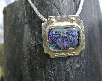Silver with purples, greens and lots of personality