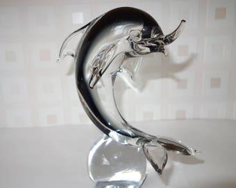 Italian Glass Dolphin Venetian or Morano