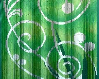 Green Dreams Bamboo Beaded Curtain