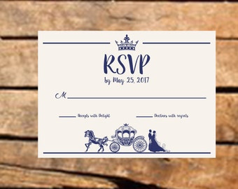 Downloadable Fairy Tale Wedding RSVP Card Card