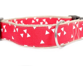 RED dog collar / leash TRIANGLE