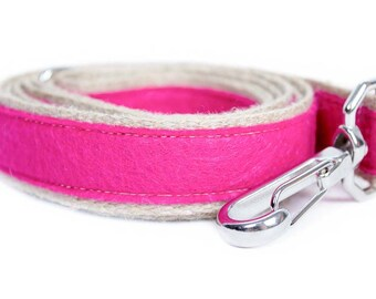 Dog collar / leash FELT FUCHSIA