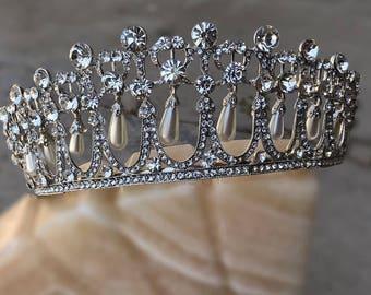 Our PRINCESS DIANA Tiara, Lover's Knot Cambridge Inspired, Royal Tiara, Queen Mary, Elizabeth, Bridal Crown, Wedding, Pageant, Swarovski